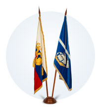 Флаг кабинетный горизонтальный
