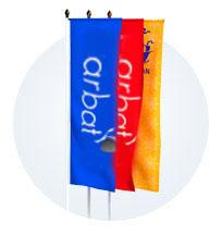 Флаг уличный для уличного г-образного флангштока вертикальный