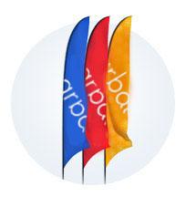 Флаг-парус уличный переносной или стационарный