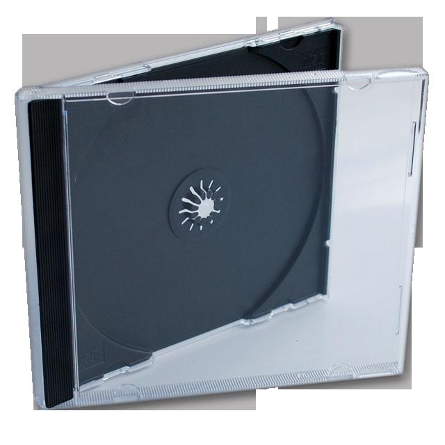 Jewell box, под 1 диск, черный